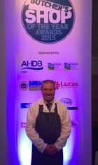 Paul Bowley at the Butchers Shop of the Year Awards 2015